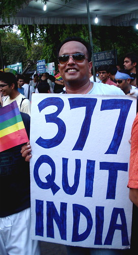 Protesting s. 377 of India's Penal Code