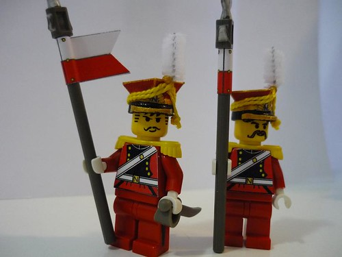 Michael Evans: Red Lancers custom minifigs