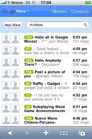 Wave on IPhone