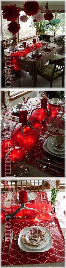 masa süsleme teknikleri kırmızı masalar kırmızı aksesuarlı sofralar