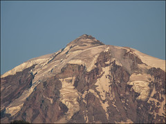 Close Up Of Mt Rainier With A Touch Of Alpen Glow, 8.1.09.