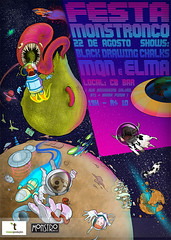 Festa Monstronco (ilustracionamentador) Tags: black art design arte drawing draw elma festa discos tronco bsf espace desenho espao chalks grafico monstro mqn sideral producoes bicicletasemfreio victorjam monstronco