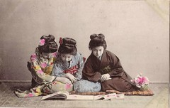 pc japan,women reading abt  l900