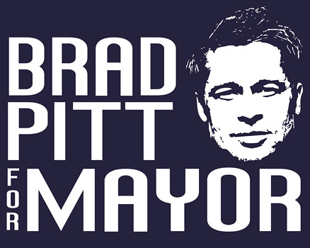 Brad Pitt for Mayor T-Shirt