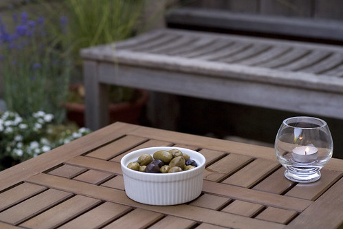 Olives on the patio