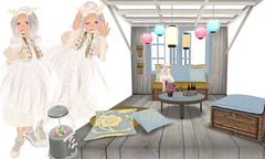 aug24-09 (elka_) Tags: white cute fashion angel tokyo outfit wings beige whimsy heaven quebec montreal mashup remix calm sl mocha secondlife kawaii sugarcube theme wardrobe waffles angelic anya edelweiss snowrabbit headband montstmichel zenith elka freebies djchampion hiyori elkalehane ohmai aliveagain mfox ilove13 magitake secondspaces