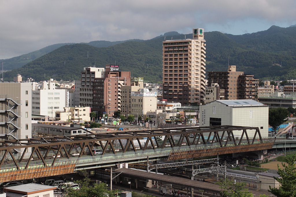 Maizuru viaduct and Kofu Station