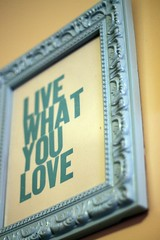 Live what you love (chelstastic) Tags: blue love print paint you handmade live frame what etsy decor artisan dollarama upcycle