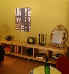 Art nouveau mirror and art deco clock