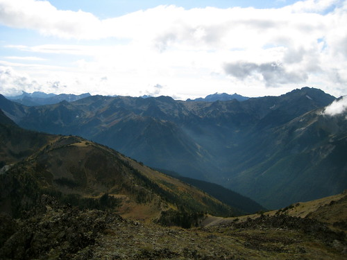 Looking Down to Marmot Pass
