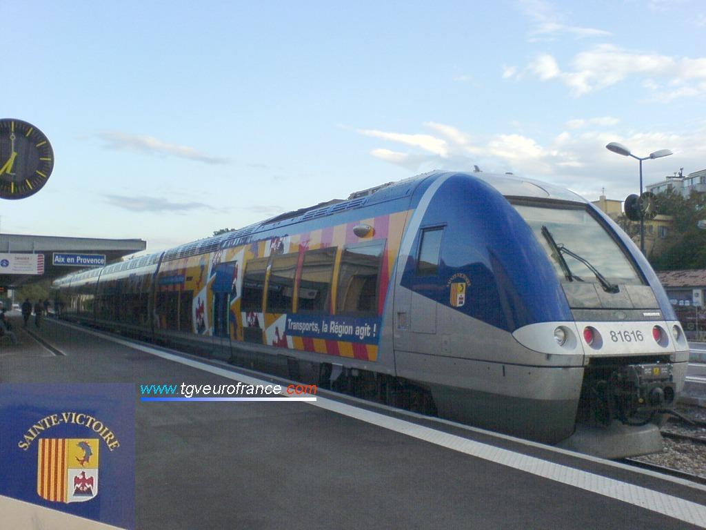 L'autorail AGC (rame B81615 - B81616 SNCF) construit par Bombardier Transport
