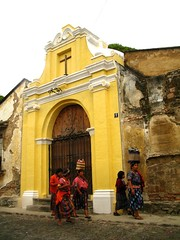 Culture Contrasts (Rudy A. Girn) Tags: guatemala antigua antiguaguatemala churchdoorway rudygiron indigenouswomen laantiguaguatemala lagdp laantiguaguatemaladailyphoto rudygiron colonialdoorway