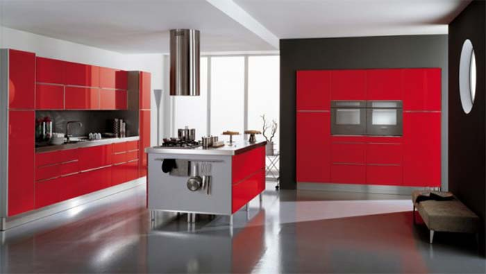 red retro kitchen inspiration