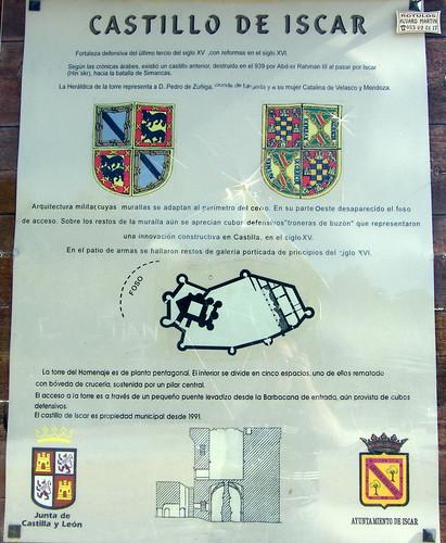 Íscar (Valladolid) castillo cartel y vistas