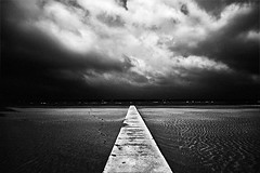 (Effe.Effe) Tags: sea sky bw beach monochrome clouds mare mood path bn plage spiaggia senigallia