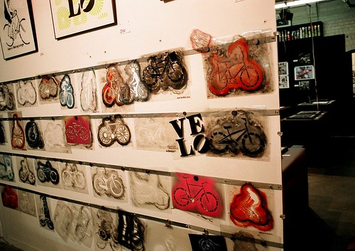 Wall of Bicycle Stencils by Georgie_grrl.
