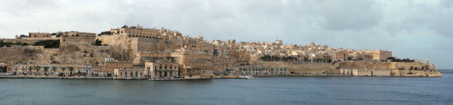 Valletta view from Senglea