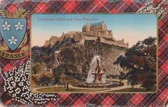 Edinburgh Castle & Ross Fountain 1918