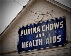 Purina Chows (12Jeepgirl~Never look back...) Tags: sign rural photoshop nikon midwest farm elevator sigma iowa coop feed hoya purina d300 vingetting mahaska newsharon