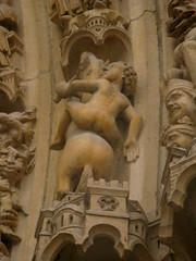 put some pants on! (roo pokomon) Tags: travel paris france statue de la europe cit notredame notredamedeparis pantless le summer2009