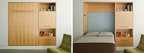 folding wall bed -  saving space furniture