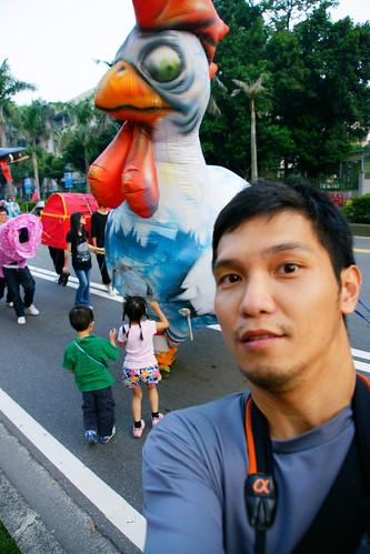 自拍‧大雞與小人