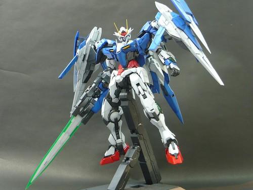 Gundam guy: pg 1/60 00 raiser - customized build w/ leds