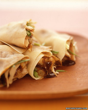 asian style chicken wraps