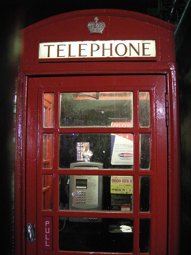The iconic phone booth