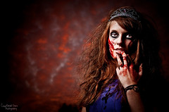 Even the sky was bloody.. (Courthead Does Photography) Tags: zombie zombieland zombieville chick girl hot scary creepy horror young nikon d90 club 18105mm vr strobist sb900 umbrella courthead does photography ashland ky kentucky coal grove ironton oh ohio party