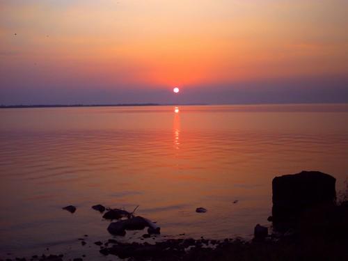 琵琶湖の夕焼け-17