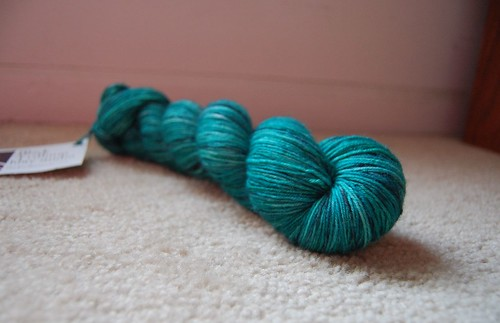 Black Trillium Merilon Sock in Midnight Emerald