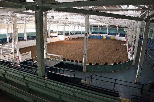Spectator view of the horse arena