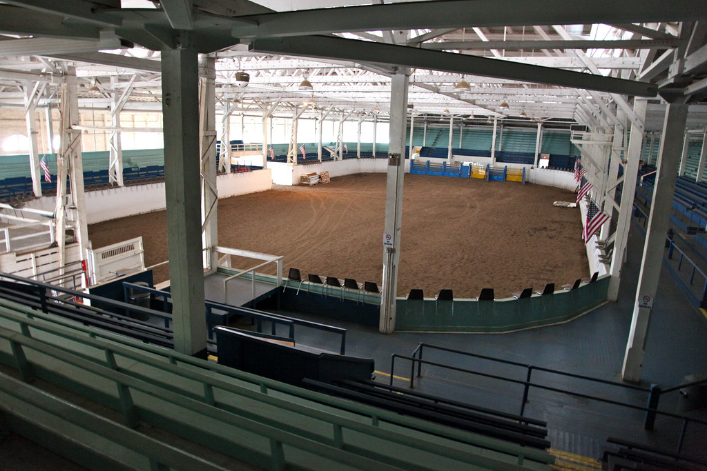 View from the seats in the horse arena, which will house the beer garten and live band. Photo thanks to Matt Haughey