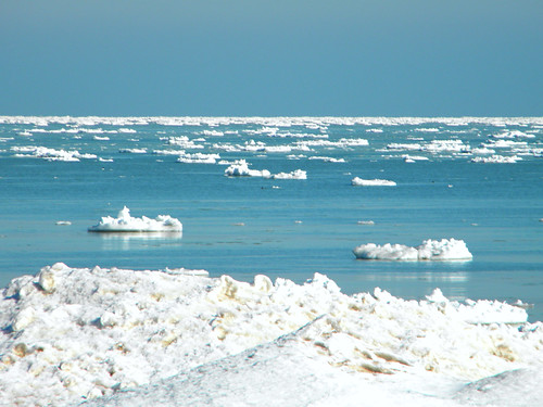 Lake Michigan Icebergs