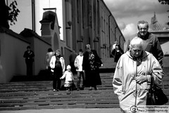 Sunday morning in Vilnius (Just a guy who likes to take pictures) Tags: life street old city morning portrait people urban bw en woman white man black male church girl monochrome wall kids lady female stairs bag jack photography grey kid und spring focus europa europe fotografie photographie alt candid coat centre sunday kinderen streetphotography kirche eu baltic kind treppe human jacket stadt mister oma frau portret herr zwart wit weiss centrum kerk oud trap schwarz vrouw lithuania vilnius stad muur zw litouwen olt trappen binnenstad meneer innenstad