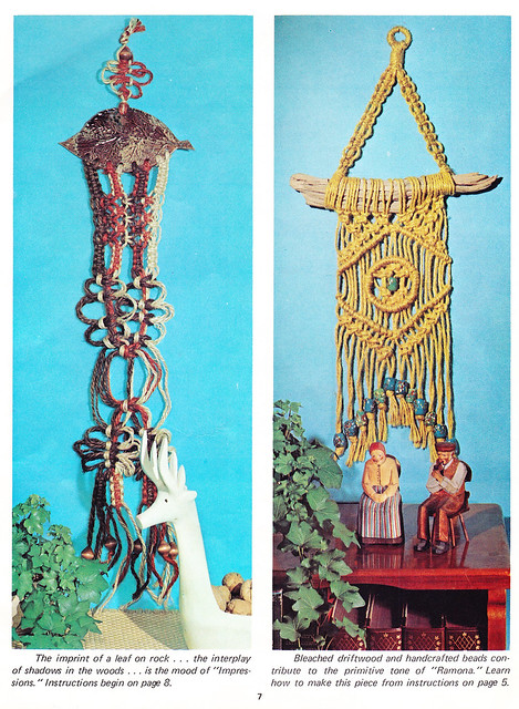 Wall Hangings - Macrame hangers For Small Spaces 1975