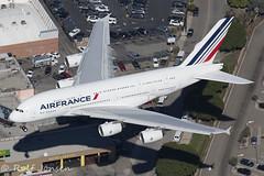 F-HPJJ Airbus A380 Air France Los Angeles airport KLAX 08.11-16 (rjonsen) Tags: plane airplane aircraft whale whalebus flying flight approah dumbojet air2air