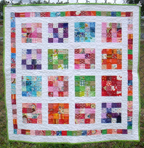 girls crayon quilt front