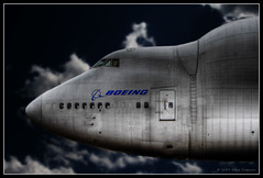 Dreamlifter (Cygnus~X1 - Visions by Sorenson) Tags: blue summer sky usa white clouds canon airplane nose rebel illinois photoshopped aircraft jet cargo airshow moonlit moonlight boeing 2008 hdr 747 jumbo xsi 787 scottafb dreamliner ef70200mmf28lisusm 1exp scottairforcebase dreamlifter 747409lcf n249ba scottairshow ef2xextenderii craigsorenson 20090520205834z