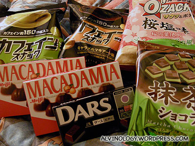 Snacks we bought to bring home to Singapore