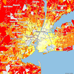 transportation CO2 per household, greater New York City (by: CNT)