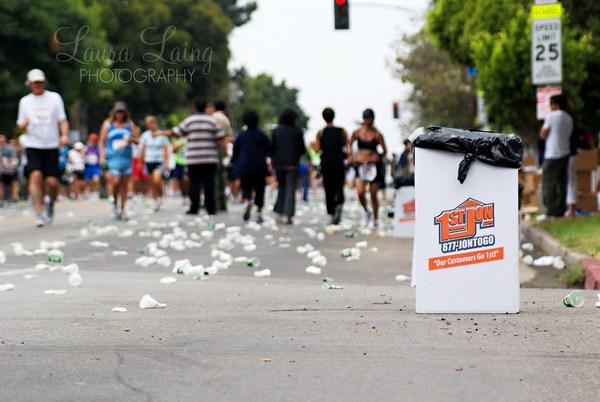 LA Marathon Trash
