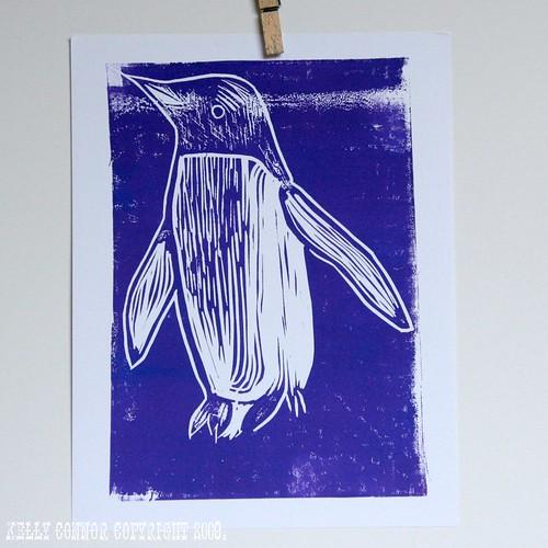 penguin in purple