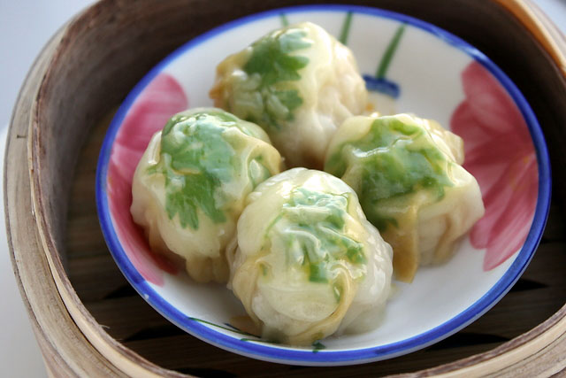 Steamed Siew Mai with Quail Egg