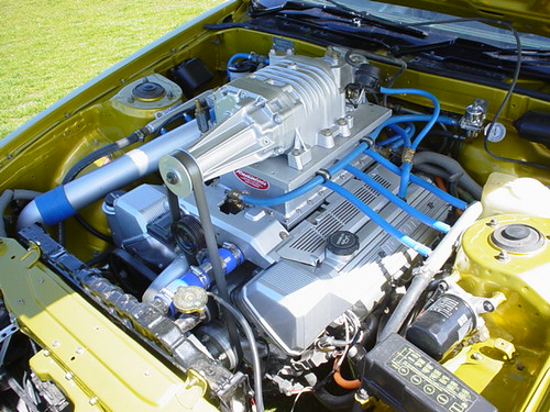 Super-charged Toyota DOHC Alloy V8