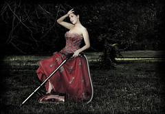 Dirty World... (ritakinyo) Tags: red portrait selfportrait me nature grass photoshop self nikon dress vacuum rita dirty cleaning d200 termszet piros nikond200 f ritakinyo porszv  photofunnies platinumpeaceaward