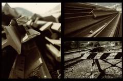 old rails... (barone_birra) Tags: old italy roma station del reflex rails giugno stazione yashica 2009 sora isola vecchio binari frosinone castelliri fx3 liri