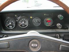 Datsun 1978 Pickup EV Instrument Panel (mellotrongirl) Tags: white electric king cab ghost ev vehicle 1978 datsun 620 strubhar bulletside gremco