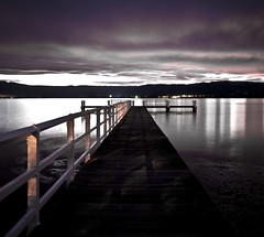 Lake Illawarra (Dmoulton) Tags: camera blue light sunset sky people cloud brown color green art water yellow rock clouds canon lens point fun outdoors photography photo rocks colorful long exposure shoot purple shot angle bright image tripod wide australia sharp handheld sight capture visual illawarra 1635mm 40d